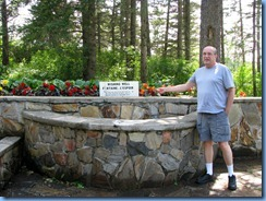 2268 Manitoba Riding Mountain National Park - Bill making a wish at Wishing Well