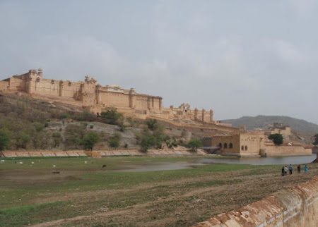 Obiective turistice India: Amber fort Jaipur sau Marele Zid Indian