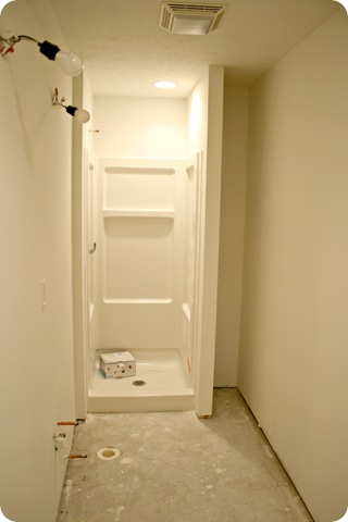 basement shower