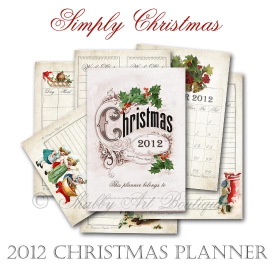 Shabby Art Boutique Christmas Planner 2012