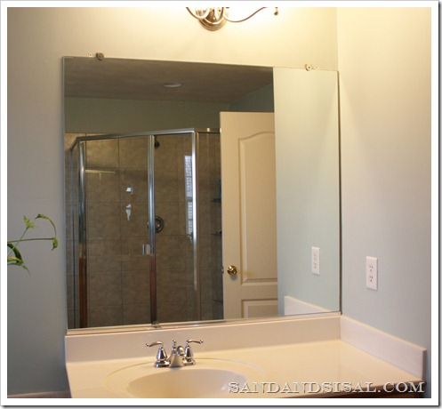 How To Frame A Mirror Sand And Sisal, How To Remove A Bathroom Mirror That Has Clips
