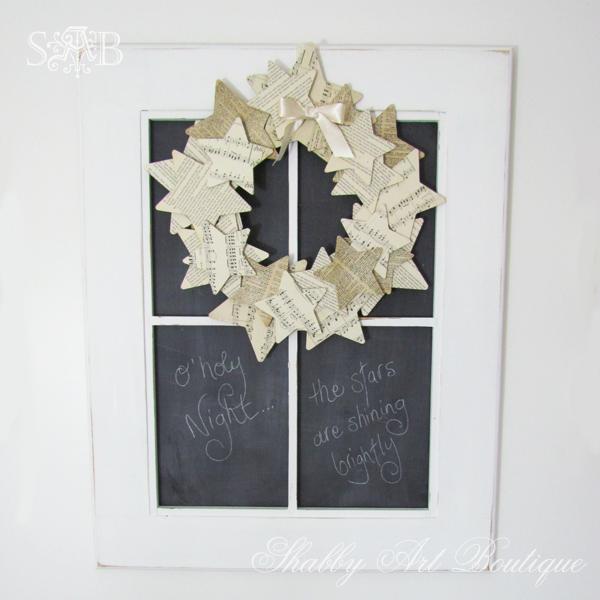 Shabby Art Boutique paper wreath2