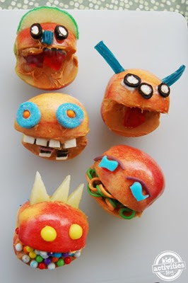 Apple Monster Faces from Kids Activities Blog