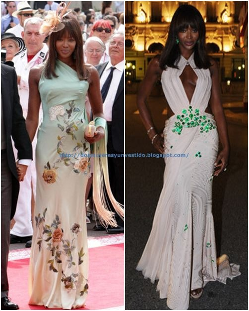 Naomi Campbell Monaco Royal Wedding