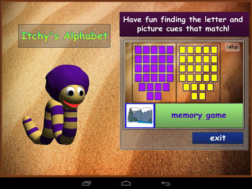 Itchy's Alphabet Memory Game