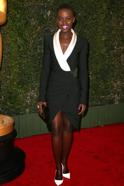 Lupita Nyong'o arrives at the Academy of Motion Picture Arts and Sciences' Governors Awards