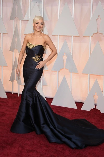Rita Ora attends the 87th Annual Academy Awards