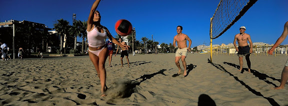 Platja de Llevant, voleibol Salou, Tarragonès, Tarragona 2001.06