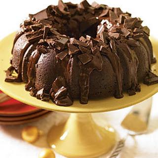 Dark Chocolate Chunk Cherry Cake