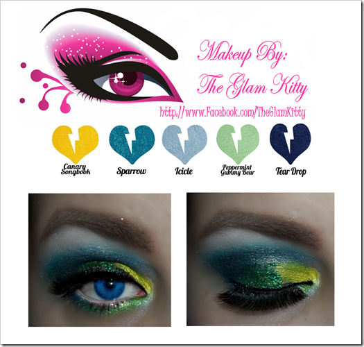 Colorful New Years Eve Makeup