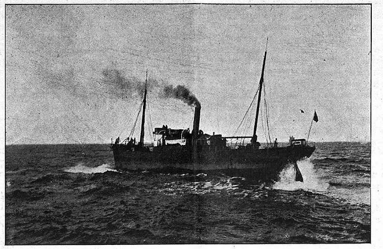 Vapor CHIO frente al puerto de San Esteban. De LA ILUSTRACION ASTURIANA. Num. 11 y 12. Noviembre de 1904.jpg