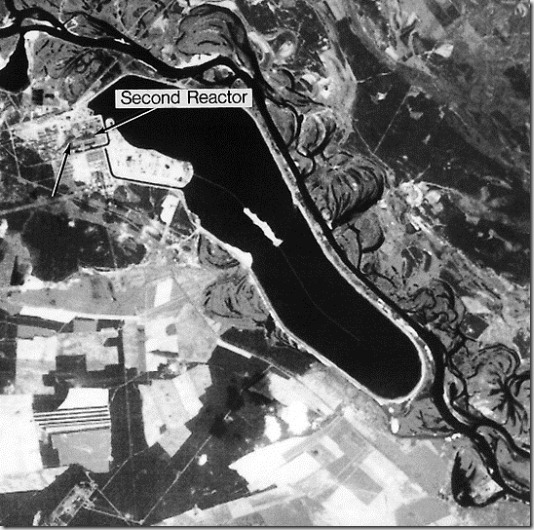 Satellite view of Nuclear Power Plant