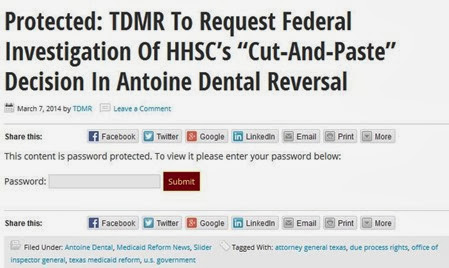 Password protected TDMR story