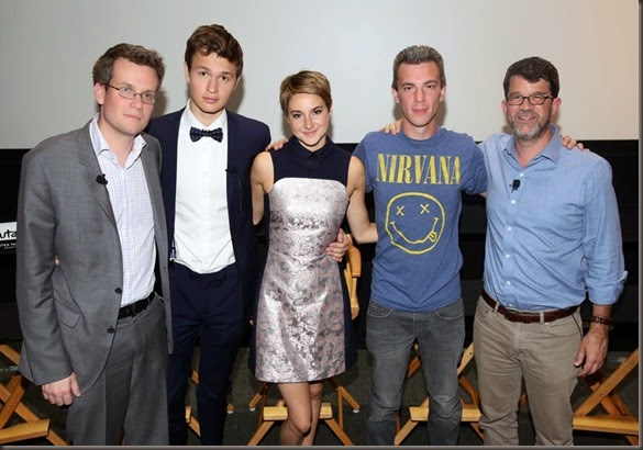 THE MAZE RUNNER producer Wyck Godfrey (leftmost) also produced THE FAULT IN OUR STARS