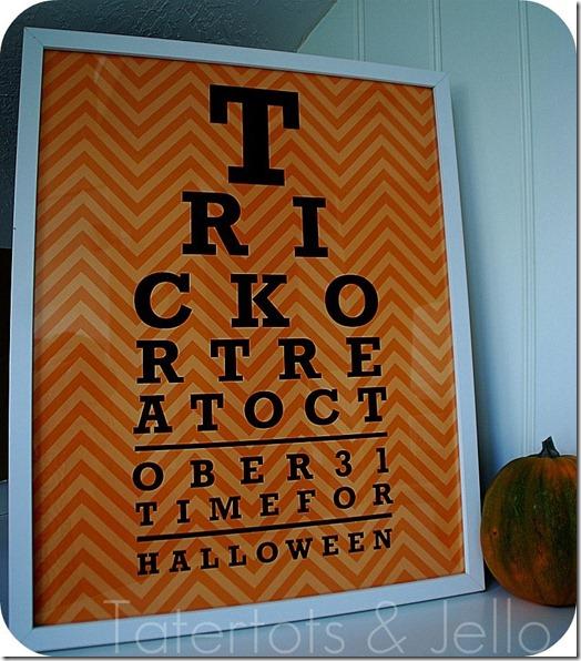 the printable halloween eye chart