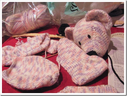 tamdoll teddy bear in progress