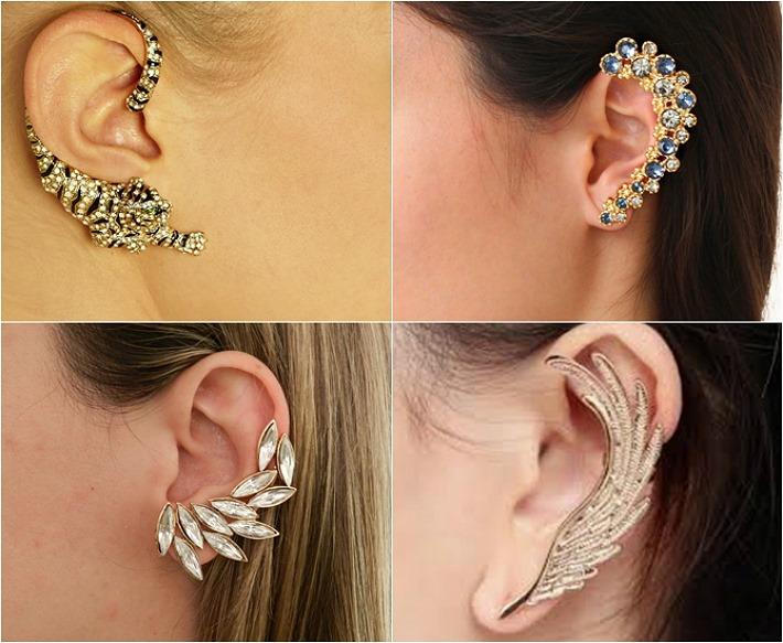 A moda dos brincos Ear Cuff está em alta! Veja como usá-los.   Maria ... 2ad87a177e