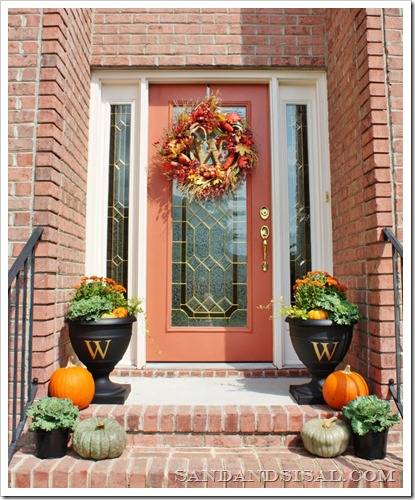 Monogrammed Urns | Top Curb Appeal Ideas For Your Home This Fall