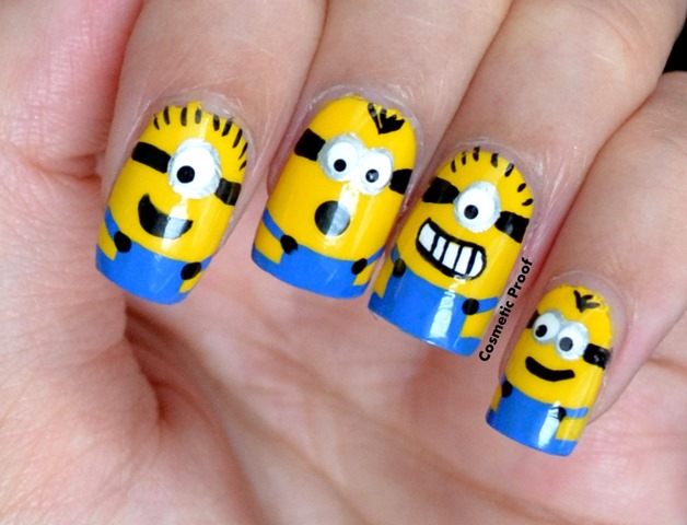 minions3 - The Minions Are Here! Cosmetic Proof Vancouver Beauty, Nail Art