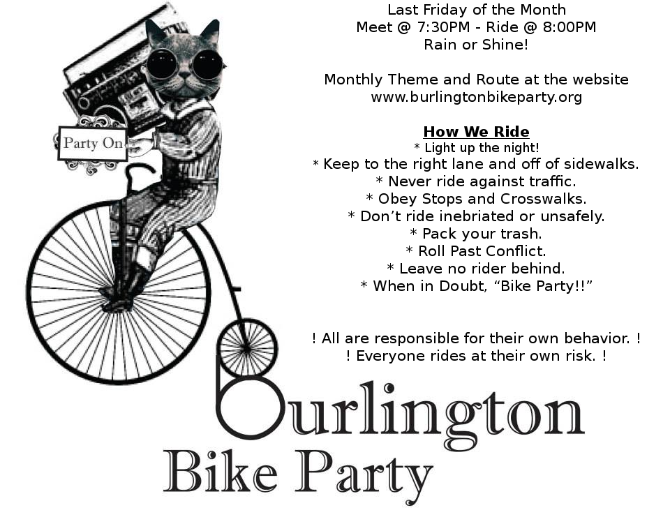 Burlington Bike Party