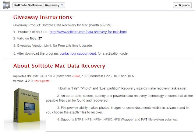 Softtote Mac Photo Recovery Gratis: Recuperare le foto perse o