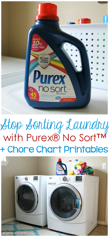 Stop Sorting Laundry with Purex® No Sort™   Free Chore Chart Printables #LaundrySimplified #CollectiveBias #shop