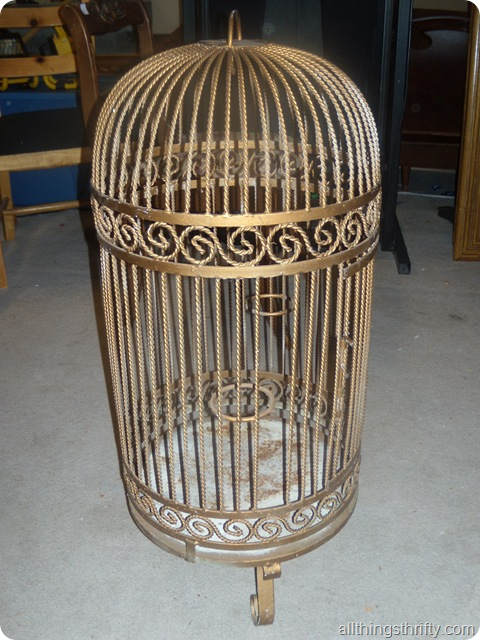Restoration hardware birdcage chandelier the thrifty way all birdcage chandelier 001 aloadofball Image collections