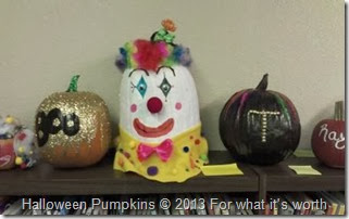 clown Halloween pumpkin