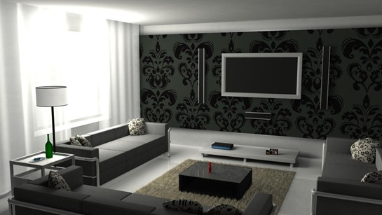 black-and-white-graphic-living-room