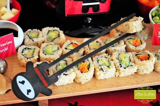 veg-sushi---Ninja-Party-by-Fete3