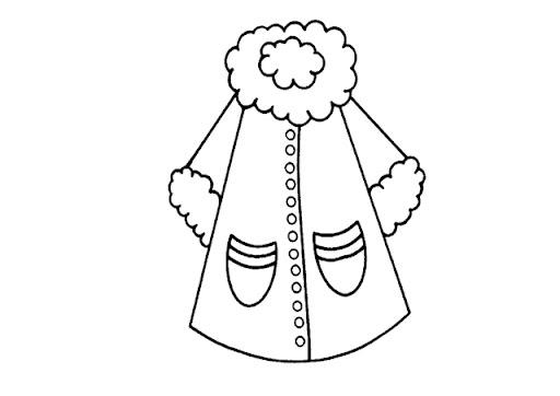 Dibujo abrigo infantil