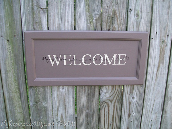 cupboard door sign | Welcome