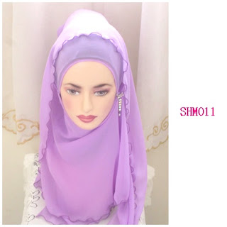 shawl halfmoon plain purple lavender