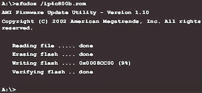Cara flash BIOS dengan aplikasi AFUDOS under DOS