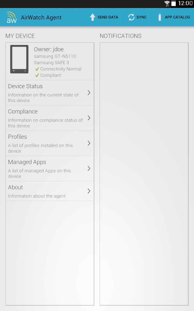 AirWatch Agent Android 12
