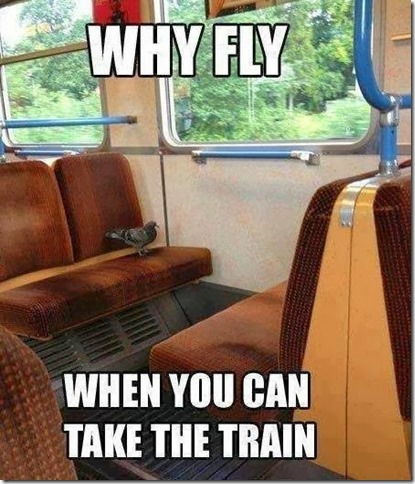 WHY FLY WHEN YOU CAN TAKE A TRAIN