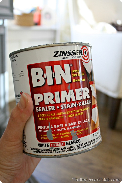 bin primer painting furniture