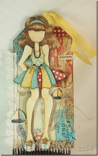 shabby girl nautical tag