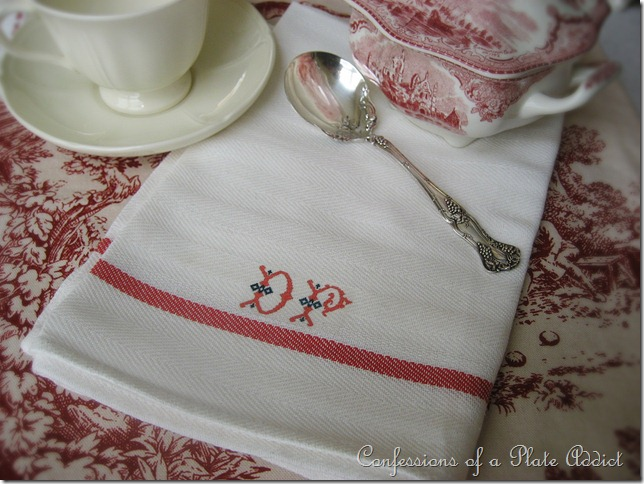 CONFESSIONS OF A PLATE ADDICT No-Sew Vintage-Look French Tea Towels
