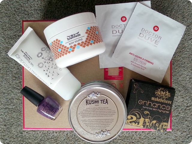 Birchbox May contents beauty box