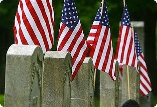 Memorial Day - Cemetery Flags