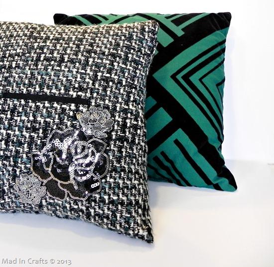 Dollar Store Pillow Embellishment