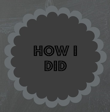how I did