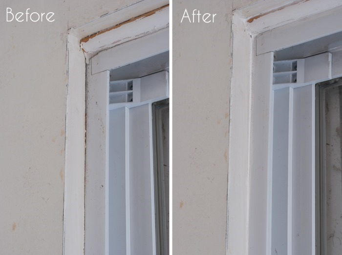 Sliding Gl Door Before And After Caulking