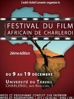 Affiche de la deuxième édition du festival du film africain de Charleroi