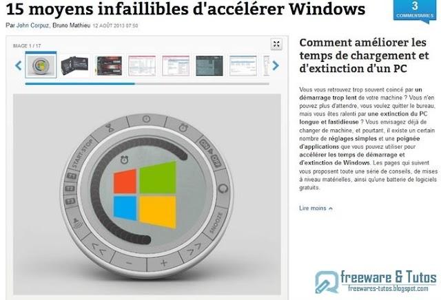 Le site du jour : comment accélérer Windows ?