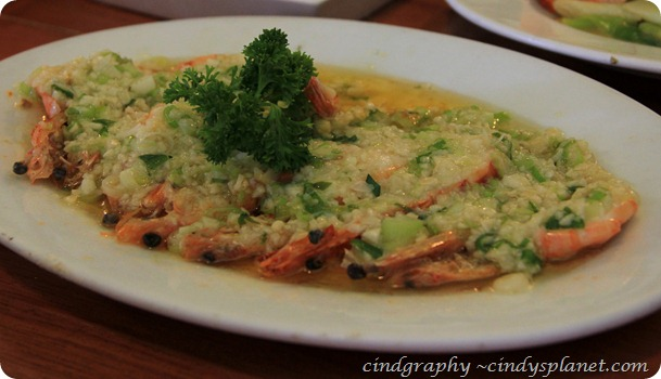 Lao Ta Kuta Steam Prawn with Egg White
