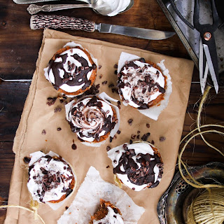 CARROT CAKE CUPCAKES with WHIPPED COCONUT CREAM + CHOCOLATE