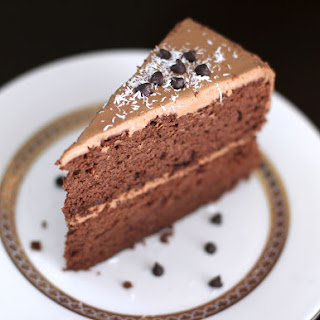 (Secretly Healthy) Decadent Chocolate Layer Cake with a Special Chocolate Frosting.