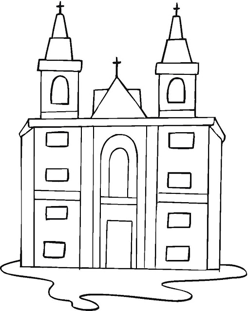 Dibujos De Iglesias Para Colorear